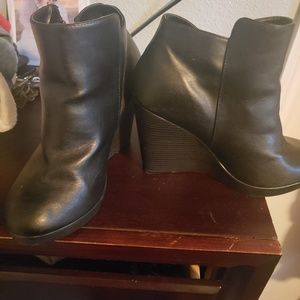 torrid Shoes - Side zip wedge booties Torrid size 10